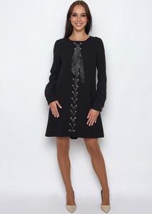 Sukienka SERERRA BUTIK z szyfonu z okrągłym dekoltem mini