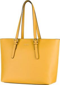 Żółta torebka PUCCINI ze skóry ekologicznej duża na ramię
