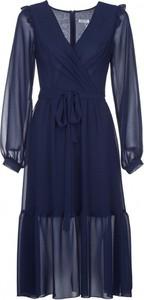 Sukienka VISSAVI kopertowa z szyfonu w stylu casual
