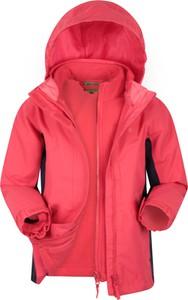 Różowa kurtka dziecięca Mountain Warehouse z tkaniny