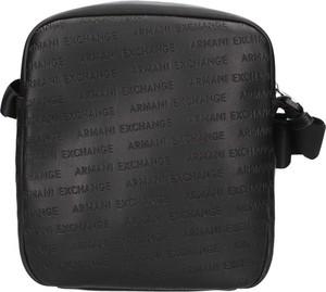Czarna torba Armani Exchange ze skóry
