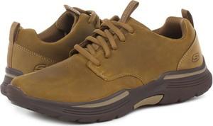 Buty sportowe Skechers z nubuku sznurowane
