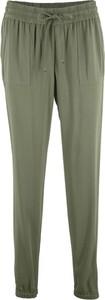 Bonprix bpc bonprix collection lekkie spodnie z materiału w optyce dżinsu