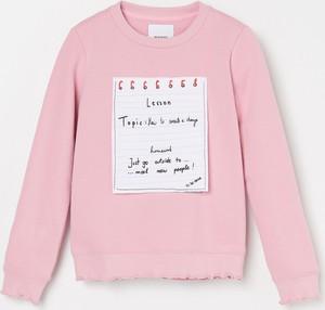 Różowa bluza dziecięca Reserved