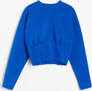 Niebieska bluza Reserved w stylu casual z tkaniny