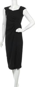 Czarna sukienka Marella bez rękawów prosta z okrągłym dekoltem