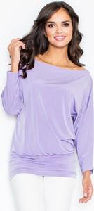 Fioletowa bluzka Figl w stylu casual