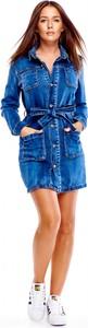 Sukienka Oh my goodness w street stylu z jeansu