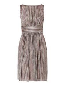 Brązowa sukienka Swing rozkloszowana mini