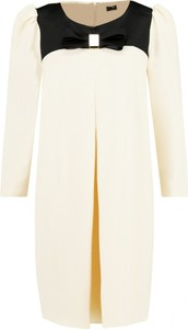 Sukienka Elisabetta Franchi z długim rękawem mini z okrągłym dekoltem