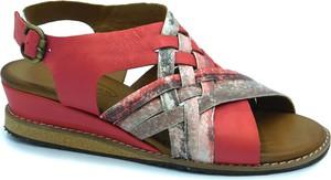 Czerwone sandały Lanqier w stylu casual z klamrami
