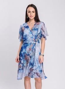 Sukienka Semper z dekoltem w kształcie litery v z krótkim rękawem