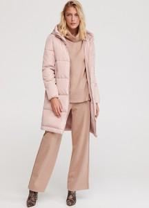 Różowy płaszcz Reserved w stylu casual