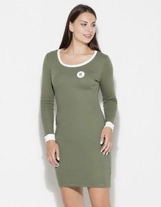 Zielona sukienka LENITIF w stylu casual dopasowana mini