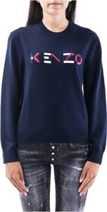 Niebieski sweter Kenzo z wełny w stylu casual