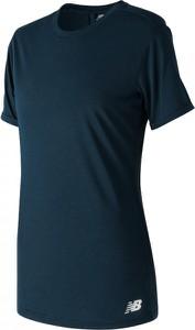 T-shirt New Balance z krótkim rękawem w stylu casual z jedwabiu