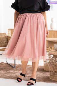 Różowa spódnica KARKO midi