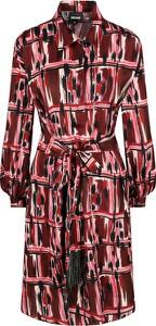 Czerwona sukienka Just Cavalli w stylu casual z kołnierzykiem mini