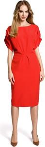 Czerwona sukienka Merg midi