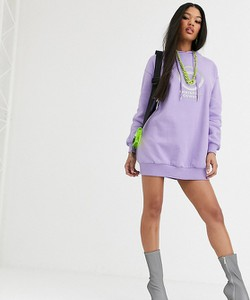 Fioletowa sukienka Asos Design