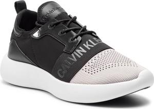Buty sportowe Calvin Klein sznurowane ze skóry ekologicznej