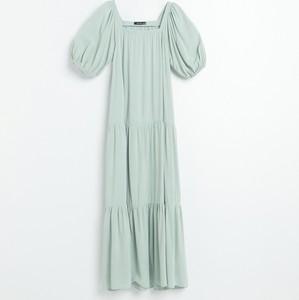 Zielona sukienka Reserved w stylu casual maxi