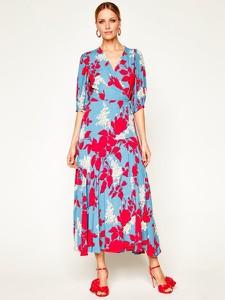 Sukienka Calvin Klein z długim rękawem z dekoltem w kształcie litery v w stylu boho