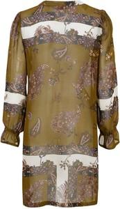 Brązowa tunika Cream w stylu vintage