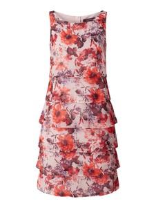 Sukienka Vera Mont bez rękawów mini z szyfonu