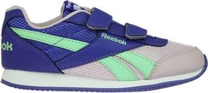 Granatowe buty sportowe dziecięce Reebok na rzepy