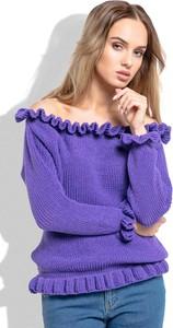Granatowy sweter Fobya