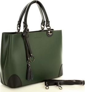 Zielona torebka MAZZINI do ręki ze skóry średnia