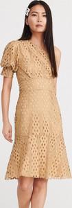 Sukienka Reserved asymetryczna z krótkim rękawem w stylu casual