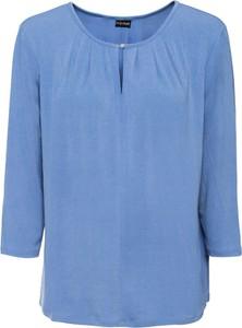 Błękitna bluzka bonprix BODYFLIRT z długim rękawem