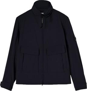 Czarna kurtka C.P. Company krótka w stylu casual z tkaniny