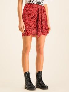 Czerwona spódnica The Kooples mini w młodzieżowym stylu