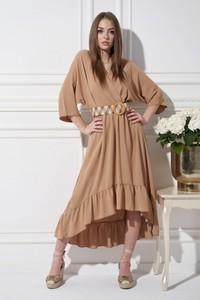 Sukienka Ella Boutique z dekoltem w kształcie litery v w stylu casual z długim rękawem