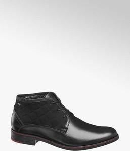 Czarne buty zimowe Wojas sznurowane
