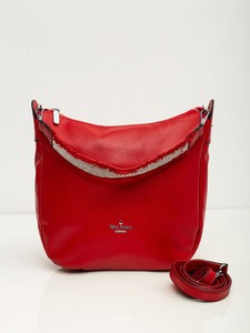 Czerwona torebka Sheandher.pl w stylu glamour na ramię