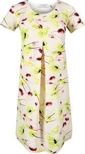 Sukienka Fokus z okrągłym dekoltem midi z tkaniny