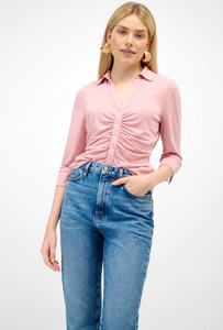 Różowa bluzka ORSAY z dekoltem w kształcie litery v z długim rękawem