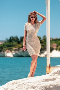 Sukienka Fobya z krótkim rękawem w stylu casual mini