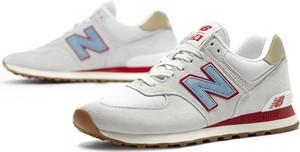 Buty sportowe New Balance ze skóry 574 sznurowane