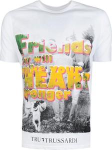 T-shirt Trussardi z nadrukiem w młodzieżowym stylu