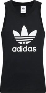 Czarny t-shirt Adidas z krótkim rękawem w sportowym stylu