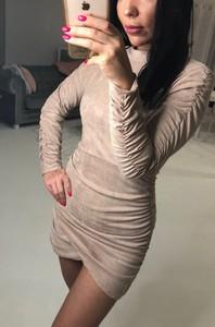 Sukienka By Mieta z zamszu