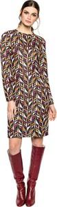 Fioletowa sukienka L'AF z długim rękawem