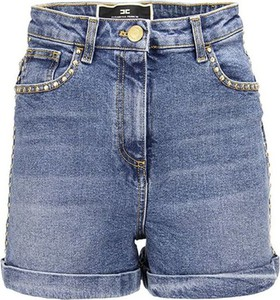 Niebieskie szorty Elisabetta Franchi z jeansu
