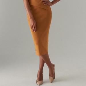 Żółta spódnica Mohito w stylu casual