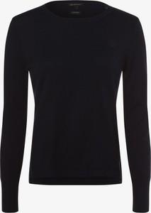 Granatowy sweter Armani Exchange z kaszmiru